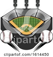 Clipart Of A Baseball Stadium Royalty Free Vector Illustration by Vector Tradition SM