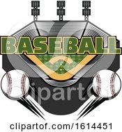 Clipart Of A Baseball Stadium Royalty Free Vector Illustration