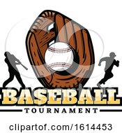 Clipart Of A Baseball Glove And Players Royalty Free Vector Illustration