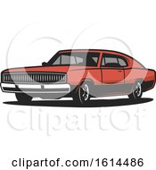 Clipart Of A Classic Car Royalty Free Vector Illustration