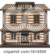 Clipart Of A Western Saloon Royalty Free Vector Illustration by Vector Tradition SM