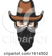 Clipart Of A Western Outlaw Royalty Free Vector Illustration by Vector Tradition SM