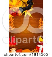 Clipart Of An Autumnal Or Thanksgiving Border Royalty Free Vector Illustration