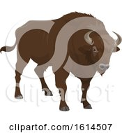 Clipart Of A Bison Royalty Free Vector Illustration by Vector Tradition SM
