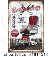 Clipart Of A Distressed Barbershop Design Royalty Free Vector Illustration