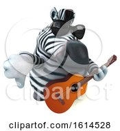 Clipart Of A 3d Zebra On A White Background Royalty Free Illustration by Julos