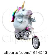 Clipart Of A 3d Chubby Unicorn On A White Background Royalty Free Illustration