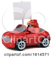 Clipart Of A 3d Red T Rex Dinosaur On A White Background Royalty Free Illustration