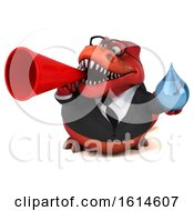 Clipart Of A 3d Red Business T Rex Dinosaur On A White Background Royalty Free Illustration
