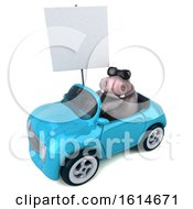 Poster, Art Print Of 3d Hippo On A White Background