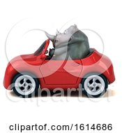 Clipart Of A 3d Rhinoceros On A White Background Royalty Free Illustration by Julos