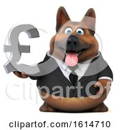 Clipart Of A 3d Business German Shepherd Dog On A White Background Royalty Free Illustration by Julos