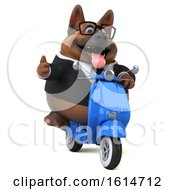 Clipart Of A 3d Business German Shepherd Dog On A White Background Royalty Free Illustration