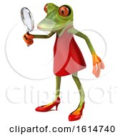 Clipart Of A 3d Female Frog On A White Background Royalty Free Illustration