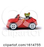 Poster, Art Print Of 3d Green Doctor Springer Frog On A White Background