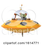 Clipart Of A 3d Green Doctor Springer Frog On A White Background Royalty Free Illustration