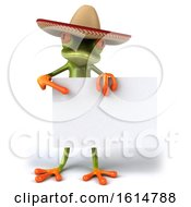 Clipart Of A 3d Green Mexican Springer Frog On A White Background Royalty Free Illustration by Julos