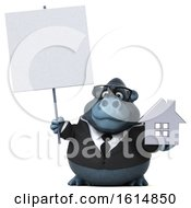 Clipart Of A 3d Business Gorilla On A White Background Royalty Free Illustration by Julos
