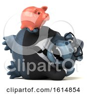 Clipart Of A 3d Business Gorilla On A White Background Royalty Free Illustration