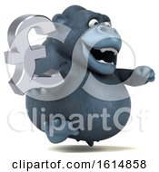 Clipart Of A 3d Gorilla On A White Background Royalty Free Illustration