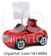 Clipart Of A 3d Red Bull On A White Background Royalty Free Illustration by Julos