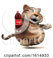 Clipart Of A 3d Tabby Kitty Cat On A White Background Royalty Free Illustration by Julos