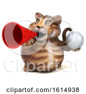 Clipart Of A 3d Tabby Kitty Cat On A White Background Royalty Free Illustration