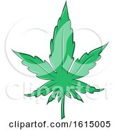 Clipart Of A Cannabis Marijuana Pot Leaf Royalty Free Vector Illustration by Domenico Condello