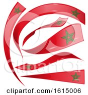 Clipart Of Morocco Flag Design Elements Royalty Free Vector Illustration
