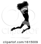 Cheerleader Pom Poms Silhouette On A White Background by AtStockIllustration
