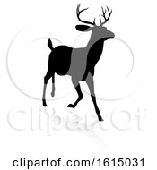 Deer Animal Silhouette On A White Background