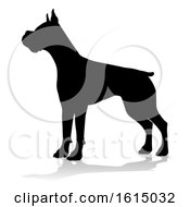 Dog Silhouette Pet Animal On A White Background