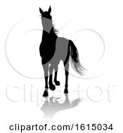Horse Silhouette Animal On A White Background