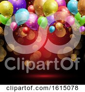 Balloons And Confetti Background