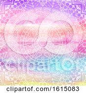 Poster, Art Print Of Elegant Mandala Design On Watercolour Texture
