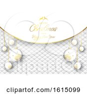 Luxurious Christmas Bauble Background