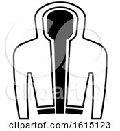 Clipart Of A Black And White Jacket Royalty Free Vector Illustration