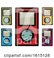 Clipart Of Colorful Ipod Icons Royalty Free Vector Illustration