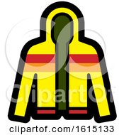 Clipart Of A Striped Jacket Royalty Free Vector Illustration