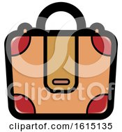Clipart Of A Suitcase Icon Royalty Free Vector Illustration