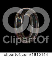 Clipart Of A Soap Bubble Number 0 On A Black Background Royalty Free Illustration