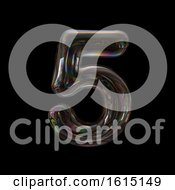 Clipart Of A Soap Bubble Number 5 On A Black Background Royalty Free Illustration