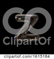 Clipart Of A Soap Bubble Lowercase Letter Z On A Black Background Royalty Free Illustration by chrisroll