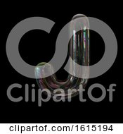 Clipart Of A Soap Bubble Capital Letter J On A Black Background Royalty Free Illustration by chrisroll