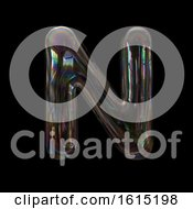 Clipart Of A Soap Bubble Capital Letter N On A Black Background Royalty Free Illustration by chrisroll