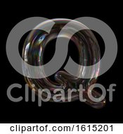 Clipart Of A Soap Bubble Capital Letter Q On A Black Background Royalty Free Illustration