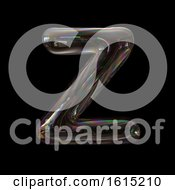 Clipart Of A Soap Bubble Capital Letter Z On A Black Background Royalty Free Illustration