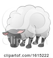 Sheep Animal Cartoon Character by AtStockIllustration