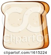 Clipart Of A Cartoon Slice Of Bread Royalty Free Vector Illustration by Domenico Condello