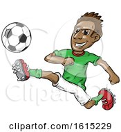 Clipart Of A Soccer Player In Action Royalty Free Vector Illustration